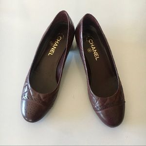Chanel Burgundy Pumps 39 US 8 Italy